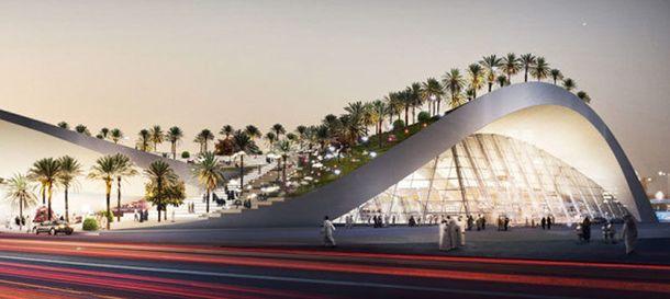 Foto: Una estación de metro en Riad