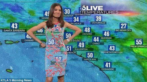 El vestido de una presentadora del tiempo le juega una mala pasada