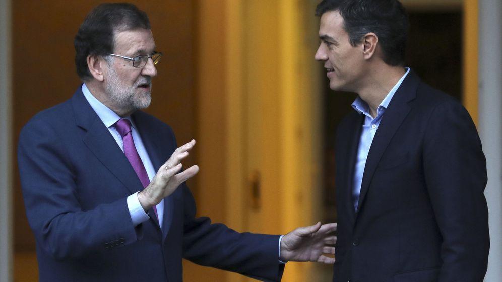 Foto: Mariano Rajoy y Pedro Sánchez, durante su última reunión en La Moncloa, el pasado 6 de julio. (Reuters)