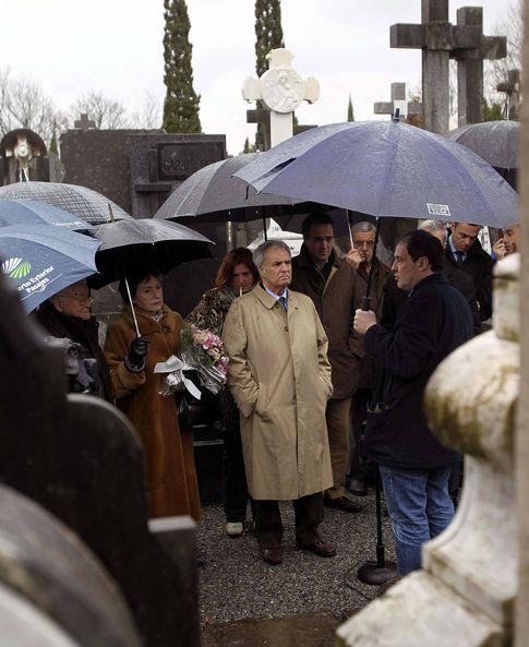 Enrique Múgica, en un acto de homenaje a su hermano Fernando (Efe).