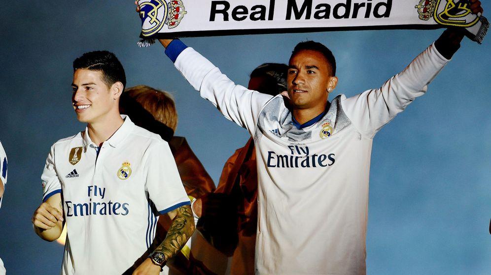 Foto: Danilo celebra el título de Liga con el Real Madrid. (EFE)