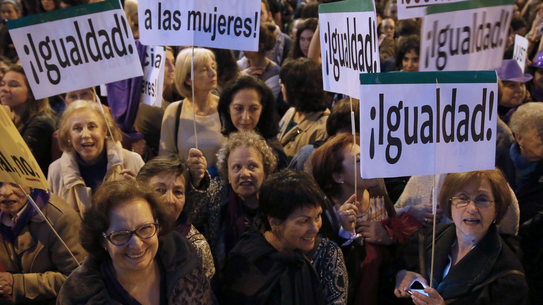 Manifestación del Día de la Mujer el pasado año. (EFE)