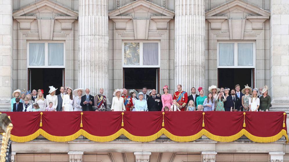 Foto: Los Windsor en el balcón de Buckingham. (Getty Images)