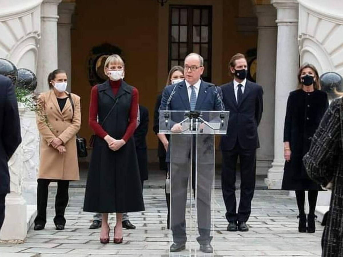 Foto: La familia real de Mónaco, en un acto reciente. (Palais Princier)