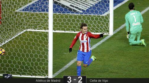 Tres golazos del Atlético salvan la cuarta plaza, pero no despejan las dudas