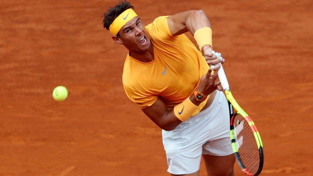 Foto: Nadal, en sud ebut en Madrid. (Reuters)