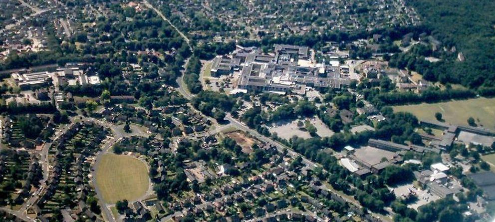 Foto: Vista aérea de la ciudad de Rotherham