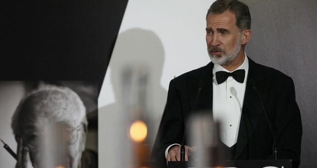 El rey Felipe interviene durante el acto. (EFE)