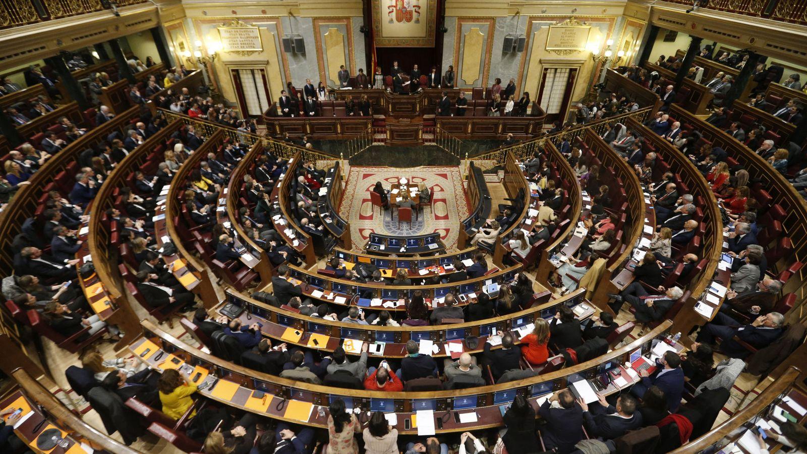 Foto: Imagen panorámica del Congreso de los Diputados. (EFE)