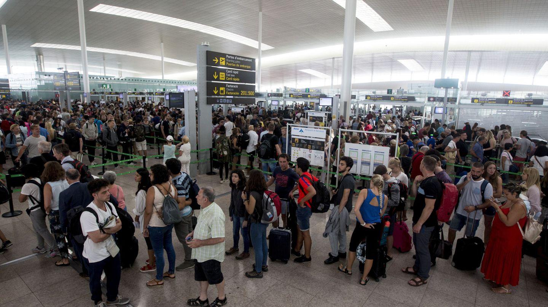 El aeropuerto de Barcelona, durante las huelgas convocadas por los trabajadores de Eulen. (EFE)