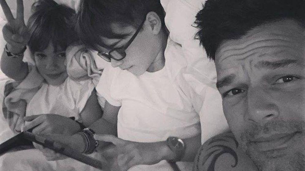 Foto: Ricky Martin junto a sus hijos, en una imagen de su perfil de Instagram.