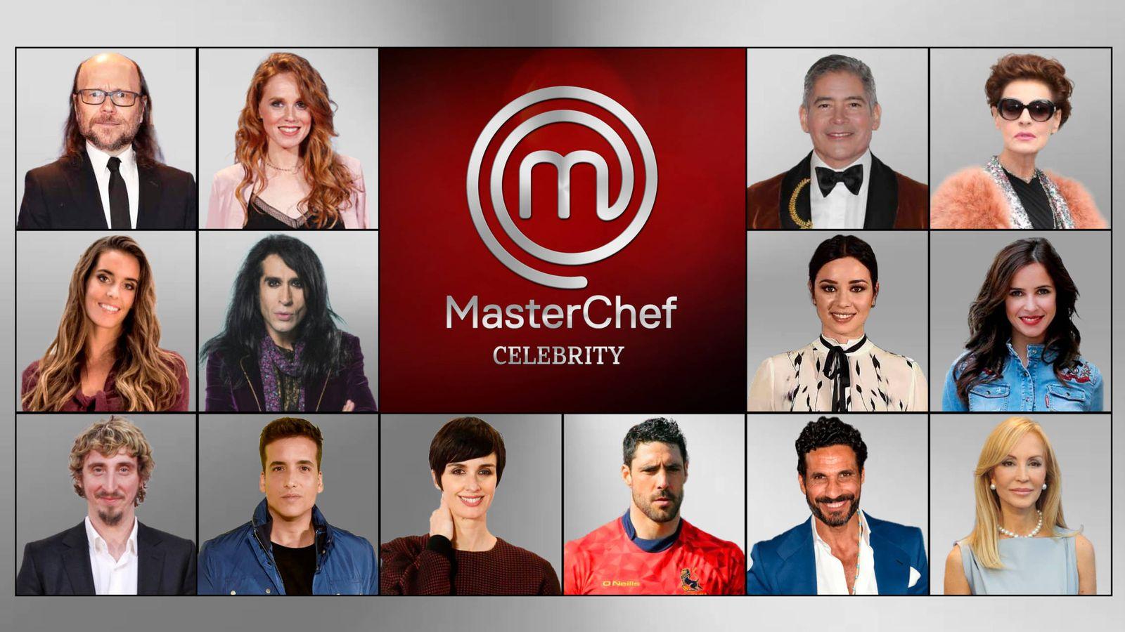 Foto: Los famosos que participarán en 'MasterChef Celebrity 3'. (RTVE)