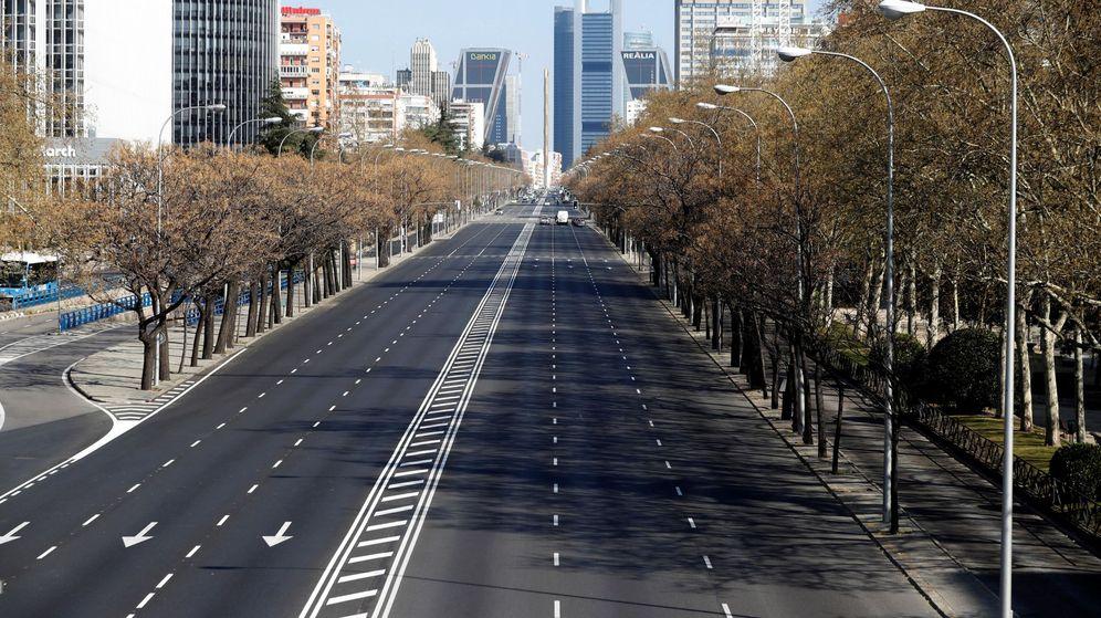 Foto: Calles vacías en Madrid. (EFE)