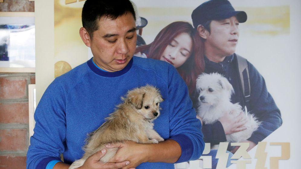Foto: El propietario de un perro en China. (Reuters)
