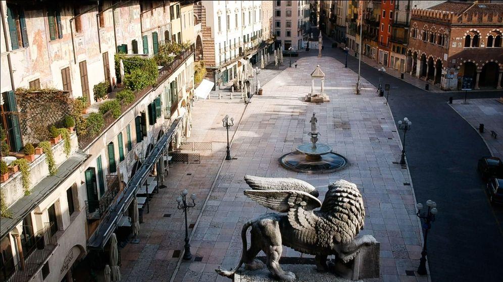 Foto: La ciudad de Verona (Italia), desierta por la cuarentena nacional. (EFE)