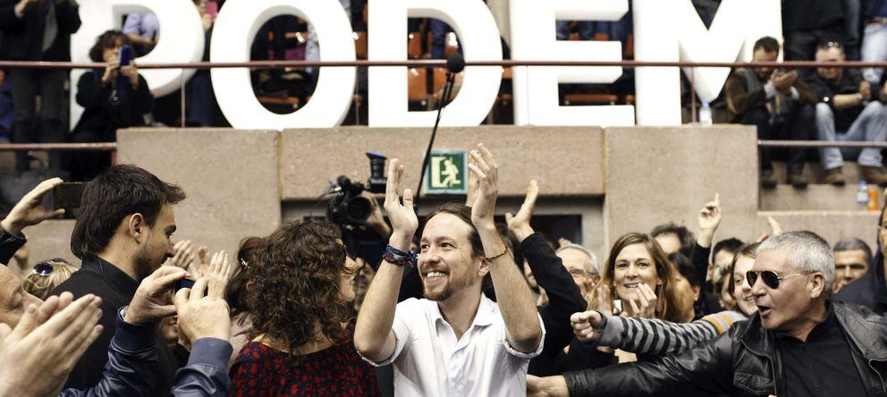 Foto: Pablo Iglesias, en Barcelona. (Efe)