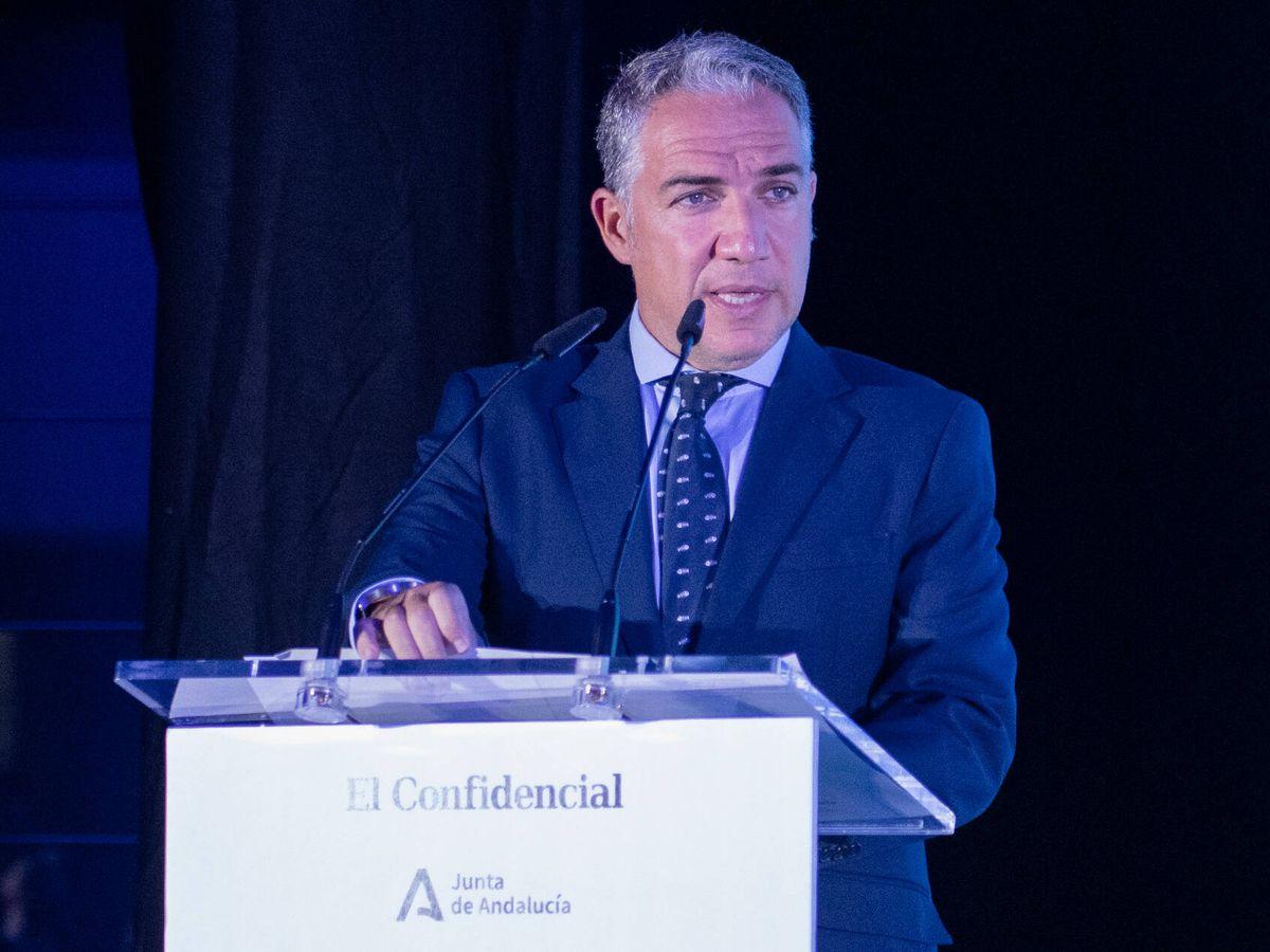 Foto: Elías Bendodo, consejero de Presidencia, Administraciones Públicas e Interior de la Junta de Andalucía.