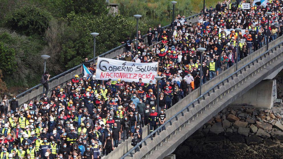 Multitudinaria marcha en Lugo contra el cierre de la planta de Alcoa