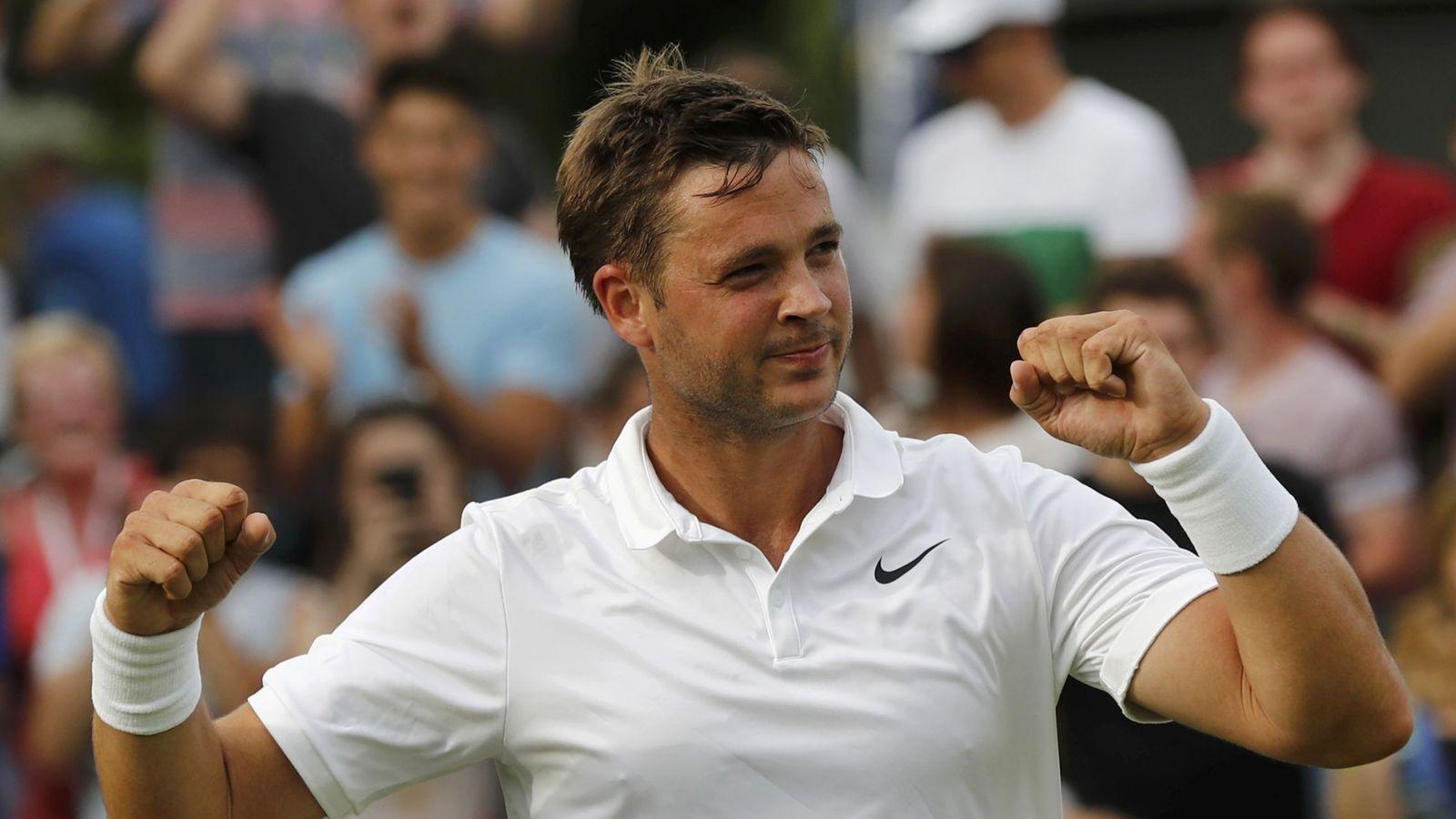 Foto: Marcus Willis, durante un partido en Wimbledon (Reuters)