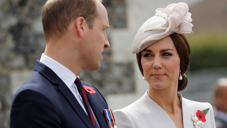 Los duques, en la ceremonia de la Commonwealth. (Getty)