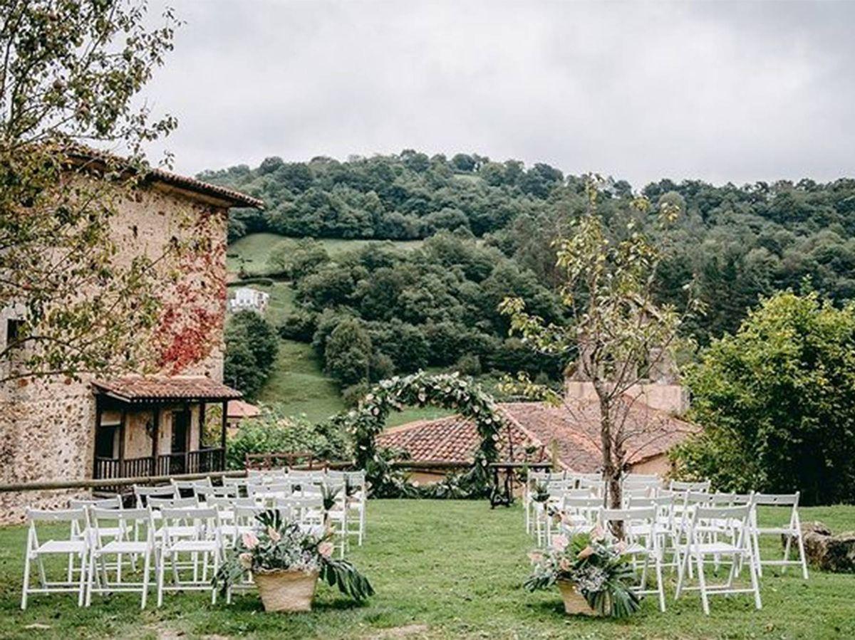 Foto: Palacio del Marqués de Casa Estrada, en Asturias. (Cortesía @palaciodecasaestrada / Fotografía: @martinvallefotografos)