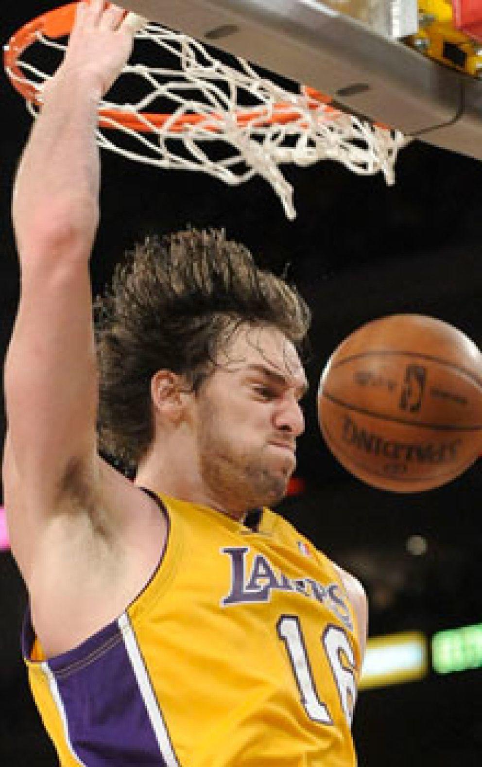 Foto: Pau Gasol, básico en la victoria de los Lakers