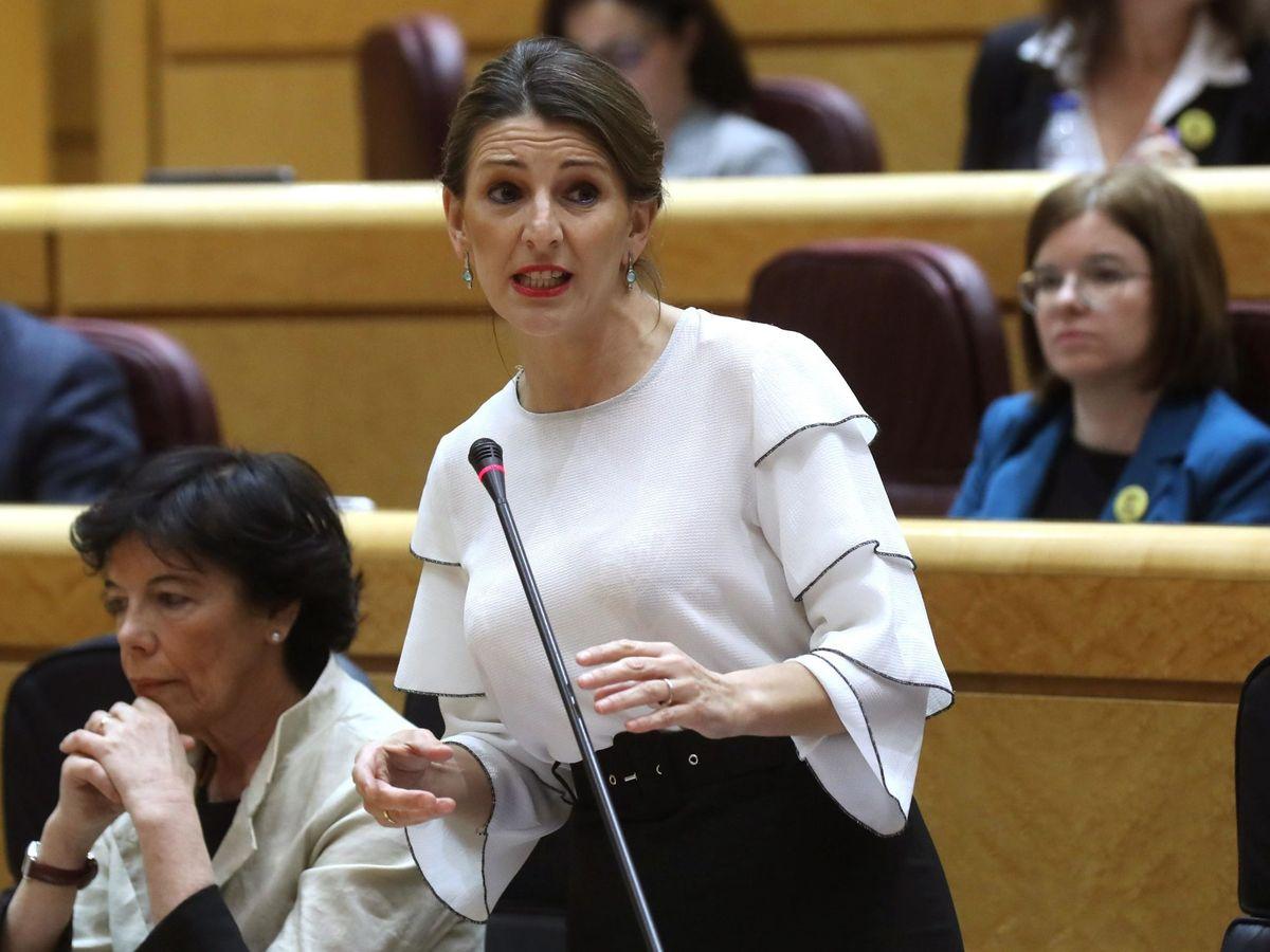 Foto: La ministra de Trabajo, Yolanda Díaz, en el Senado. (EFE)