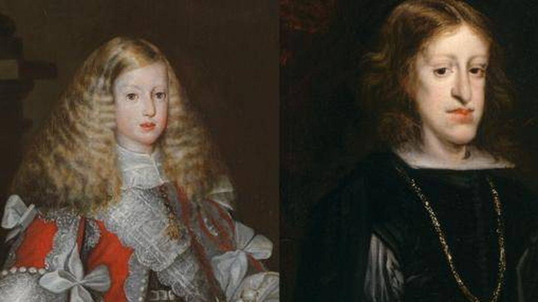 'Carlos II niño' (1670) de Sebastián de Herrera Barnuevo y 'Carlos II' (1680) de Juan Carreño de Miranda.