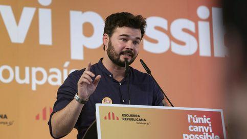 """Rufián dice que el Gobierno catalán está haciendo """"cosas que no se pueden decir"""""""