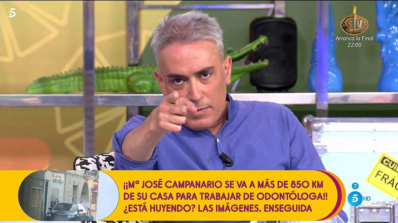 Kiko Hernández, en 'Sálvame'. (Telecinco)
