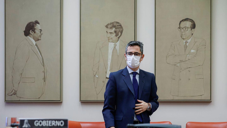 Félix Bolaños, antes de comparecer en la Comisión Constitucional del Congreso. (EFE)