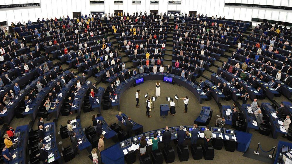 Foto: Vista general de la primera sesión del recién compuesto Parlamento Europeo. (EFE)
