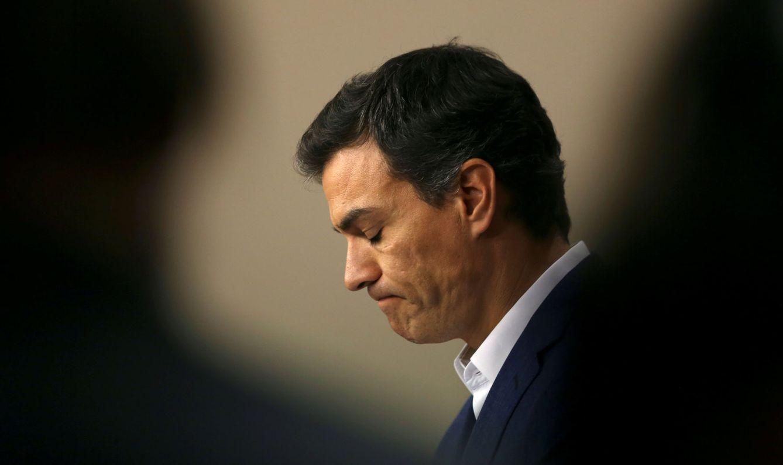 Foto: Pedro Sánchez, durante su comparecencia en el Congreso tras la renuncia de su escaño, este 29 de octubre. (Reuters)