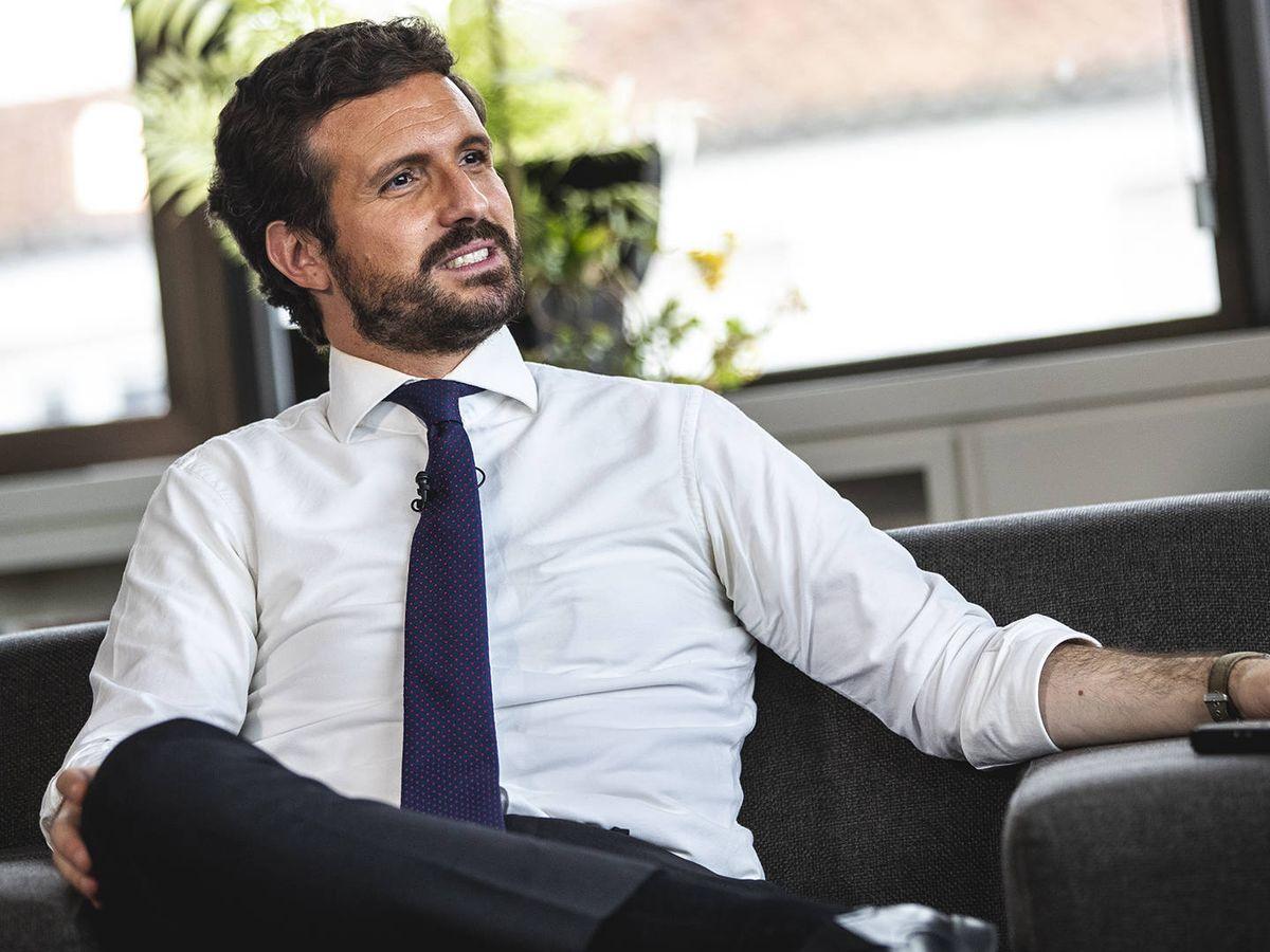 Foto: Pablo Casado, en una entrevista con El Confidencial. (Daniel González)