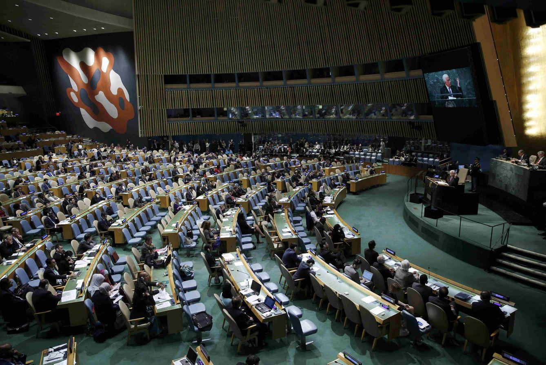 Foto: El líder palestino Mahmud Abás se dirige a la Asamblea General de la ONU en Nueva York, el 30 de septiembre de 2015 (Reuters).