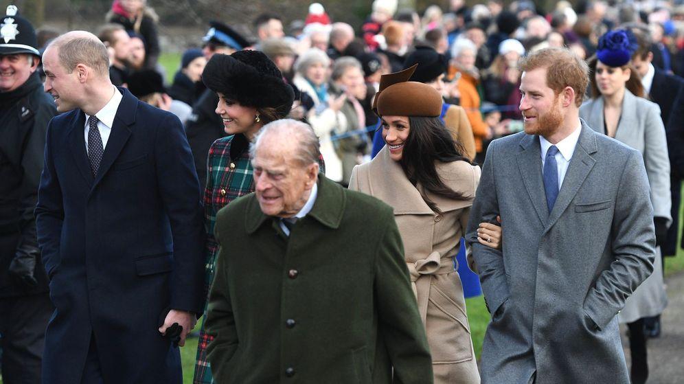 Foto: El duque de Edimburgo junto a Meghan Markle, en una imagen de archivo. (EFE)