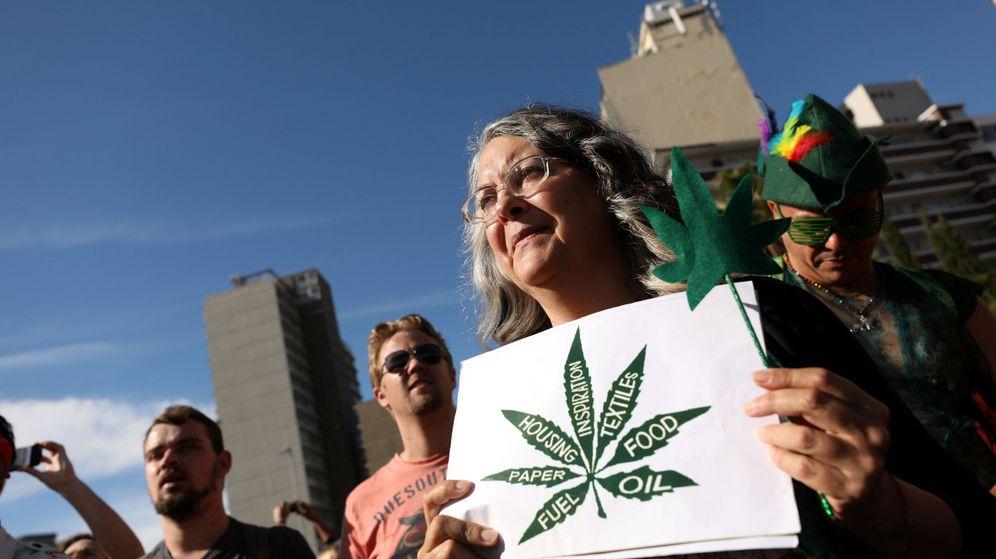 Foto: Manifestación pro uso del cannabis. (Reuters)