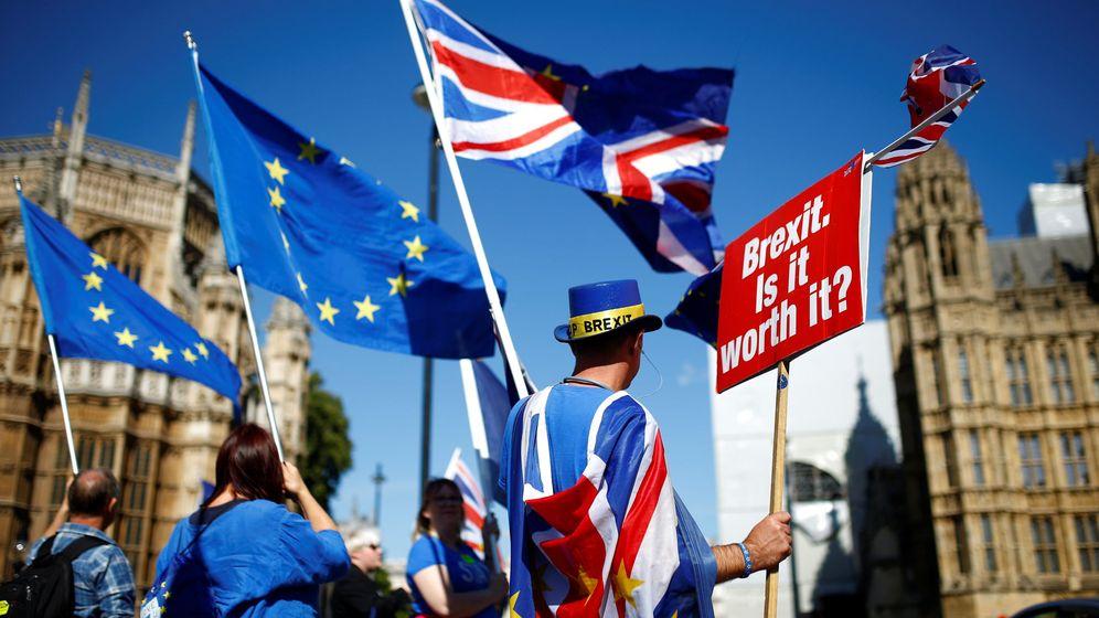 Foto: Manifestantes pro-Unión Europea, a las puertas del Parlamento en Westminster. (Reuters)