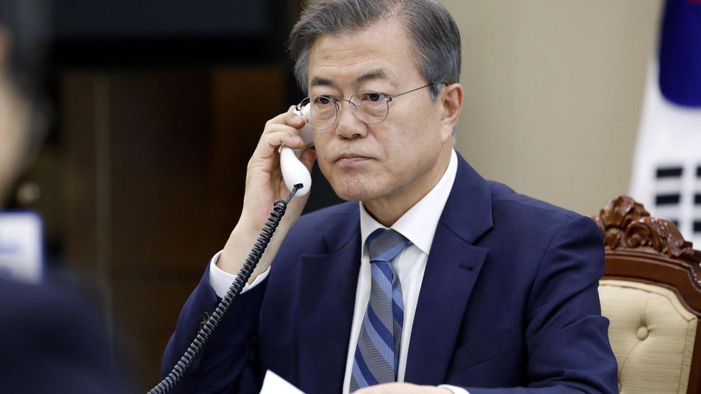 Fotografía cedida por la Oficina Presidencial de Corea del Sur que muestra al presidente surcoreano, Moon Jae-in. (EFE)