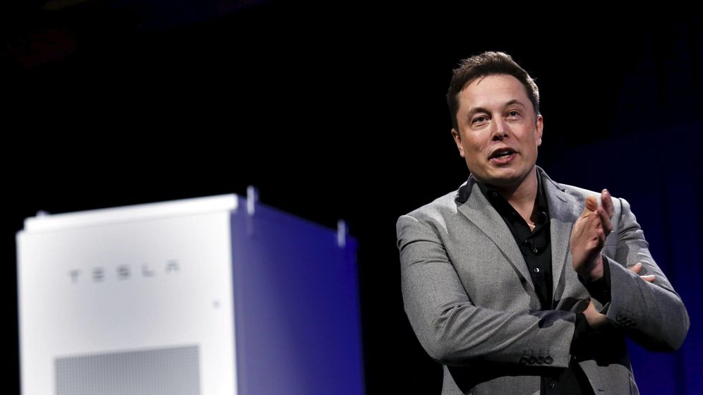 Foto: El CEO de Tesla, Elon Musk, en la presentación de la batería (Reuters)