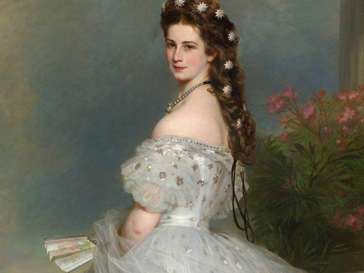 Foto: Retrato de la emperatriz Sissi en 1864 de Franz Xaver Winterhalter. (Sisi Museum-Hofburg Wien)