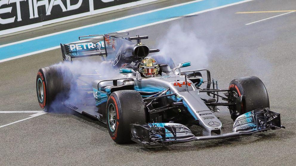 Hamilton marca el mejor tiempo y el récord en los libres del GP de Abu Dabi