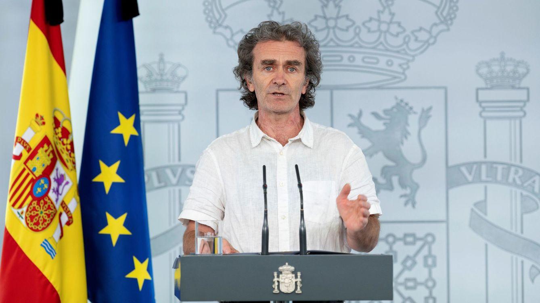 Foto: Rueda de prensa de Fernando Simón de estos últimos días. (EFE)