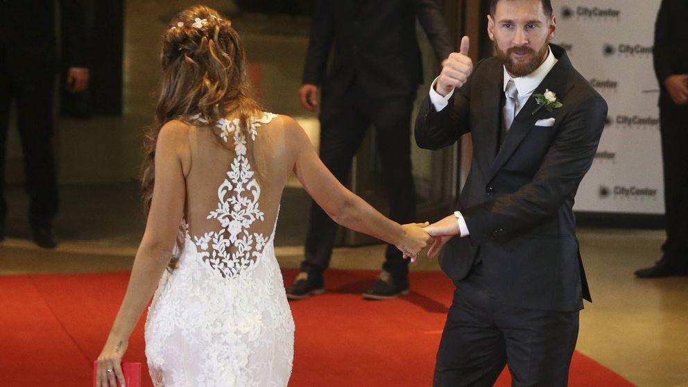 El 'zurdazo' de Messi al vestido de Antonella, lo más divertido de la boda