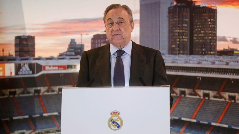 Foto: Florentino Pérez en la reciente comida de Navidad del Real Madrid. (EFE)