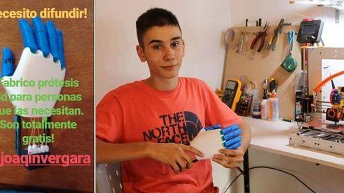 Tiene 18 años y fabrica prótesis gratis con su impresora 3D para quien las necesite