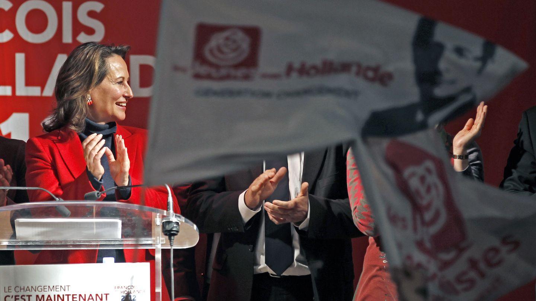 Royal durante un mitin para apoyar la candidatura presidencial de Hollande en 2012 (Reuters).