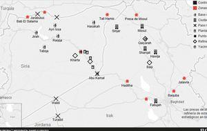 El Califato del petróleo: mapa de las conquistas del Estado Islámico