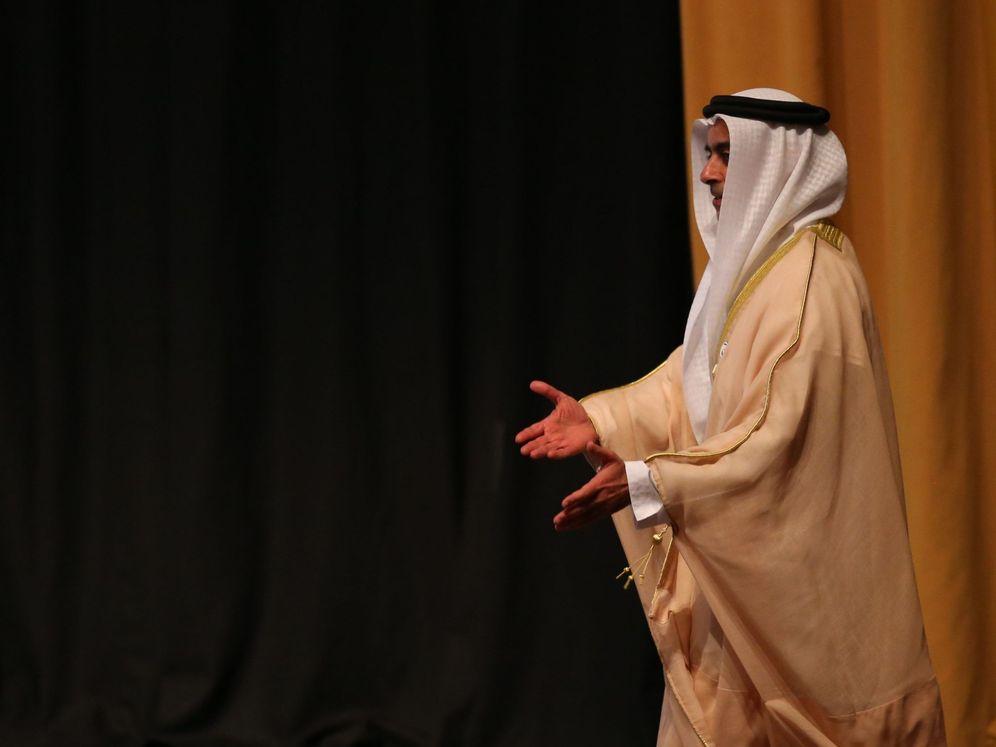 Foto: Foto de archivo de un alto responsable de Abu Dabi en la reunión del clima celebrada en Emiratos Árabes. (EFE)