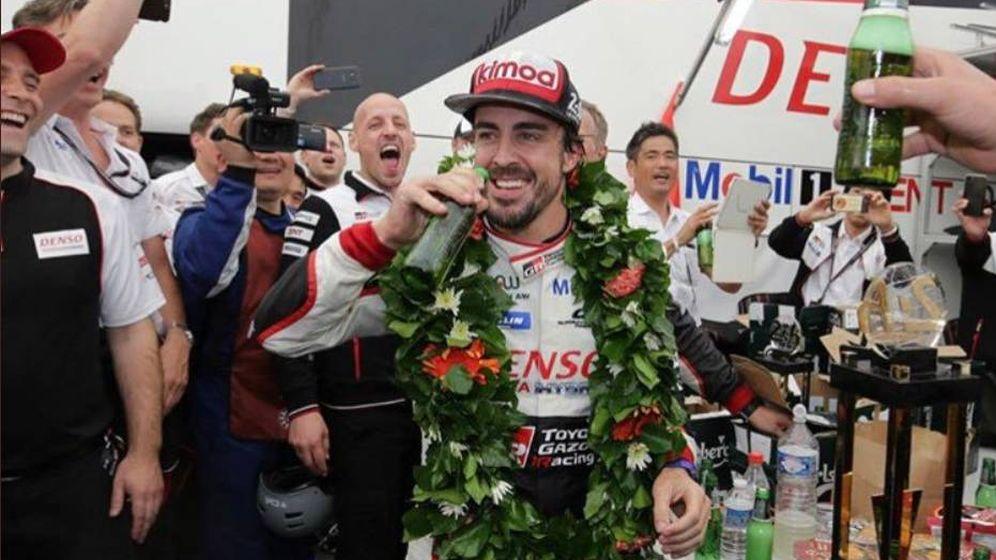 Foto: La foto de Fernando Alonso en Le Mans. (@Alo_ofi)